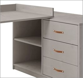 LIFETIME Schreibtisch Original drehbar mit 3 Schubladen