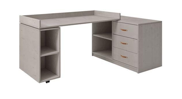 Grau lasierter Schreibtisch Original drehbar von LIFETIME
