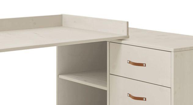 LIFETIME Original Schreibtisch drehbar mit Leder-Griffen