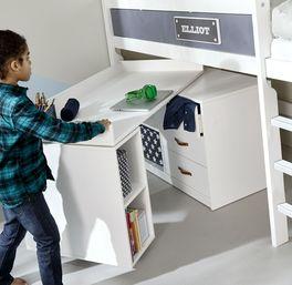 Platzsparender Schreibtisch von LIFETIME Original drehbar mit Stauraum