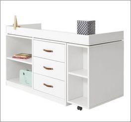 LIFETIME Schreibtisch Original drehbar mit Rollen-System