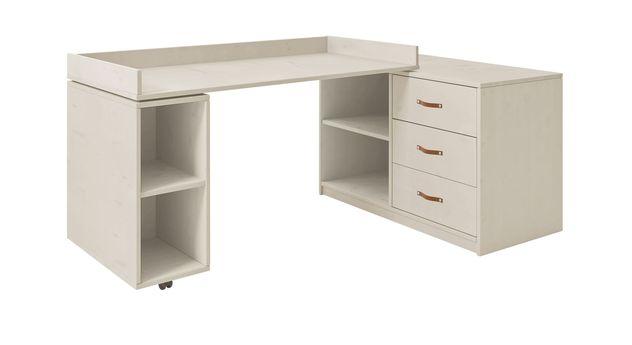 Weiß lasierter Schreibtisch LIFETIME drehbar Original