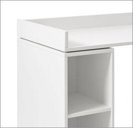 LIFETIME Schreibtisch Original rollbar inklusive Umrandung und Stauraum