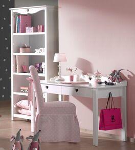 Schreibtisch und Regal Asami mit Herz-Ornamenten