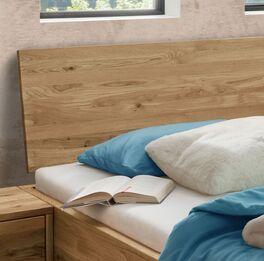 Schubkasten-Bett Adrien Kopfteil mit natürlicher Holzmaserung