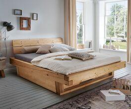 Rustikales Schubkastenbett Barup aus Echtholz