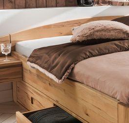Schubkasten-Bett Burgau mit niedrigem Kopfteil