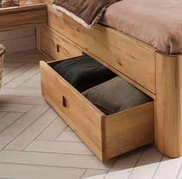 Schubkasten-Bett Burgau mit praktischen Griffmulden