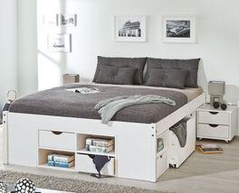 Schubkasten-Bett Göteborg inklusive Nachttische