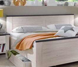 Schubkasten-Bett Groms Kopfteil mit geradlinigem Design