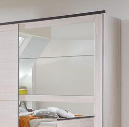 Schwebetüren-Kleiderschrank Grom mit stilvollem Spiegel