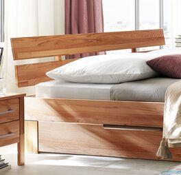 Schubkasten-Bett Halvar mit stabilem Kopfteil