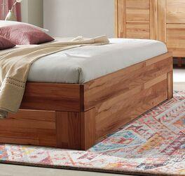 Schubkasten-Bett Halvar mit robustem Eckfüßen