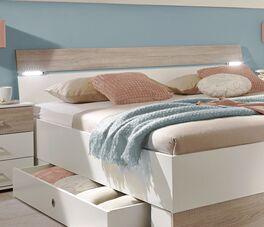 Schubkasten-Bett Kormorans Kopfteil mit LED-Beleuchtung