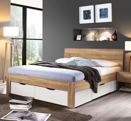 Schubkasten-Bett Oliana mit großzügigem Stauraum