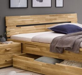 Schubkasten-Bett Sumaks Kopfteil zum Anlehnen