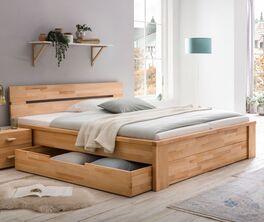 Schubkasten-Bett Tamira mit FSC-zertifiziertes Massivholz
