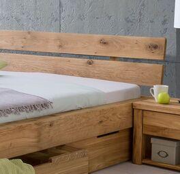 Schubkasten-Bett Tombas schlichtem Kopfteil