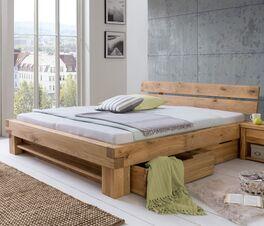 Schubkasten-Bett Tomba aus hochwertigem Massivholz