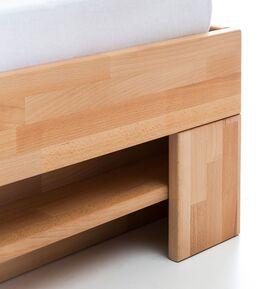 Schubkasten-Bett Valisia mit Regal am Fußende
