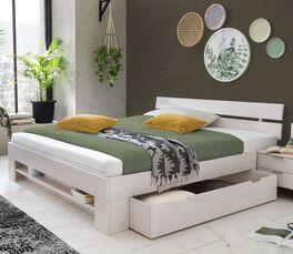 Schubkasten-Bett Valor aus robustem Massivholz