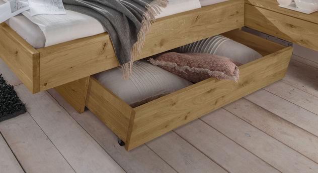 Schubkasten-Doppelbett Kärnten mit praktischem Stauraum