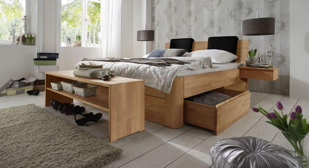 Schubkasten-Doppelbett Zarbo mit beidseitigen Schubkästen