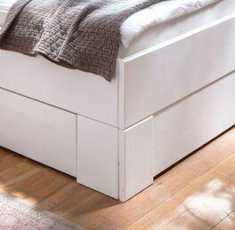 Stabiles Schubkasten-Einzelbett Ottena aus Massivholz