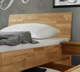 Schubkasten-Einzelbett Zarbo mit prakettverleimtem Kopfteil