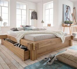 Design-Schubkasten-Liege Doba in natürlichem Look