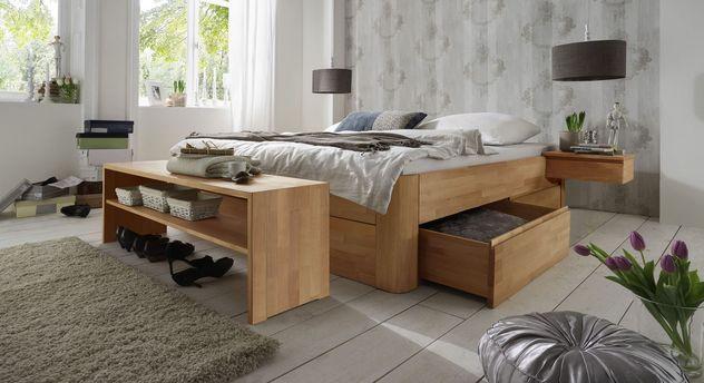 Schubkasten-Liege Zarbo mit leichtgängigen Bettkästen