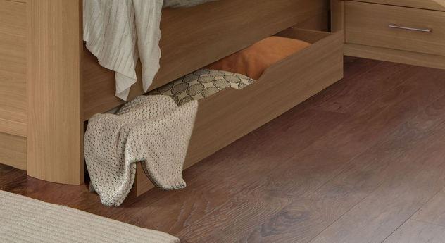 Schubkasten-Seniorenbett Dabola mit praktischem Stauraum