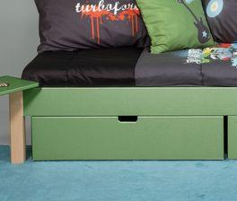 Schubkastenbett Kids Town Color mit leichtgängiger Bettschublade
