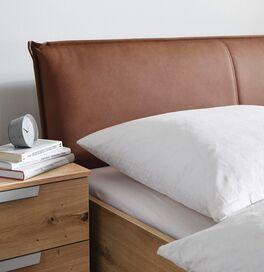 Schubkastenbett Moruda mit Ziernaht am Kopfteil