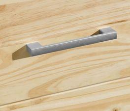 Schubladen-Kommode Bregenz mit Bügelgriffen aus Kunststoff