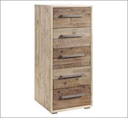 Schubladen-Kommode Vesanto aus leichtem Akazienholz