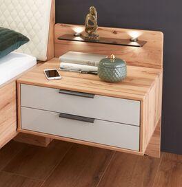 Schwebe-Nachttisch Leandra optional mit Holzpaneel