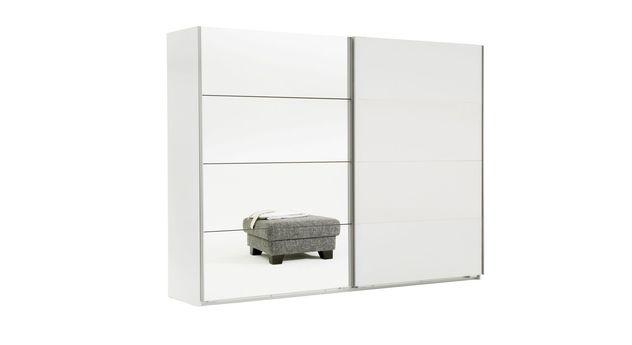 2-türiger Schwebetüren-Kleiderschrank Arba mit Spiegel