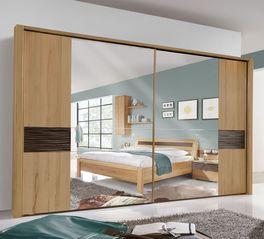 Schwebetüren-Kleiderschrank Burbia mit großem Spiegel