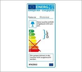 Schwebetüren-Kleiderschrank mit Energielabel zur LED Beleuchtung
