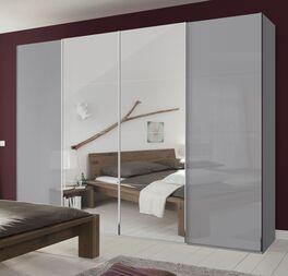 Schwebetüren-Kleiderschrank Jelica mit großem Spiegel