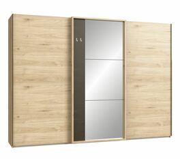 Schwebetüren-Kleiderschrank Naila mit extravaganter Rahmenspiegeltür