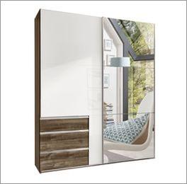 Schwebetüren-Kleiderschrank Neto mit praktischer Spiegelfront