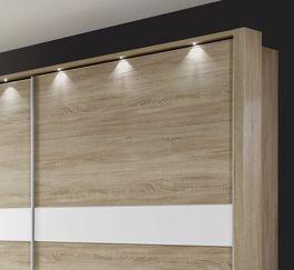 Schwebetüren-Kleiderschrank Oakville optional mit Beleuchtung