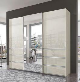 Schwebetüren-Kleiderschrank Ramsey mit dekorativen Metallleisten