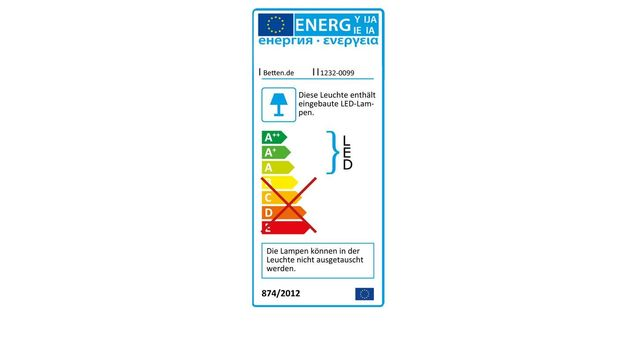 Energielabel vom Schwebetüren-Kleiderschrank Rovito
