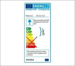 Schwebetüren-Kleiderschrank Seymours Energielabel