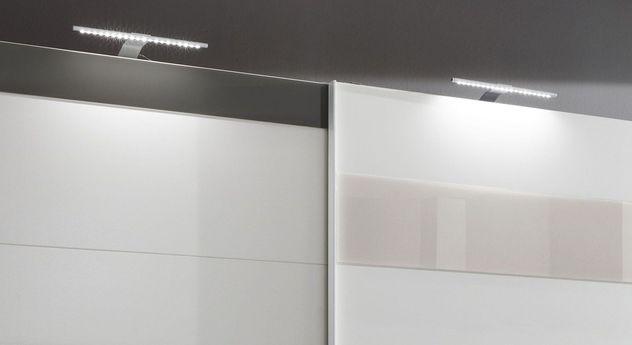 Schwebetüren-Kleiderschrank Sinopoli mit optionaler Beleuchtung