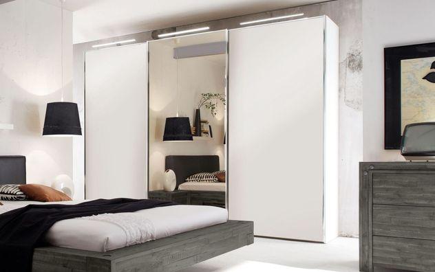 Moderner Schwebetüren-Kleiderschrank Sudbury inklusive Spiegel