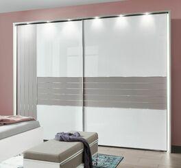 Schwebetüren-Kleiderschrank Waterbury mit optionaler Beleuchtung